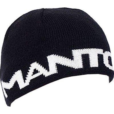 Manto Large Logo Beanie - Black