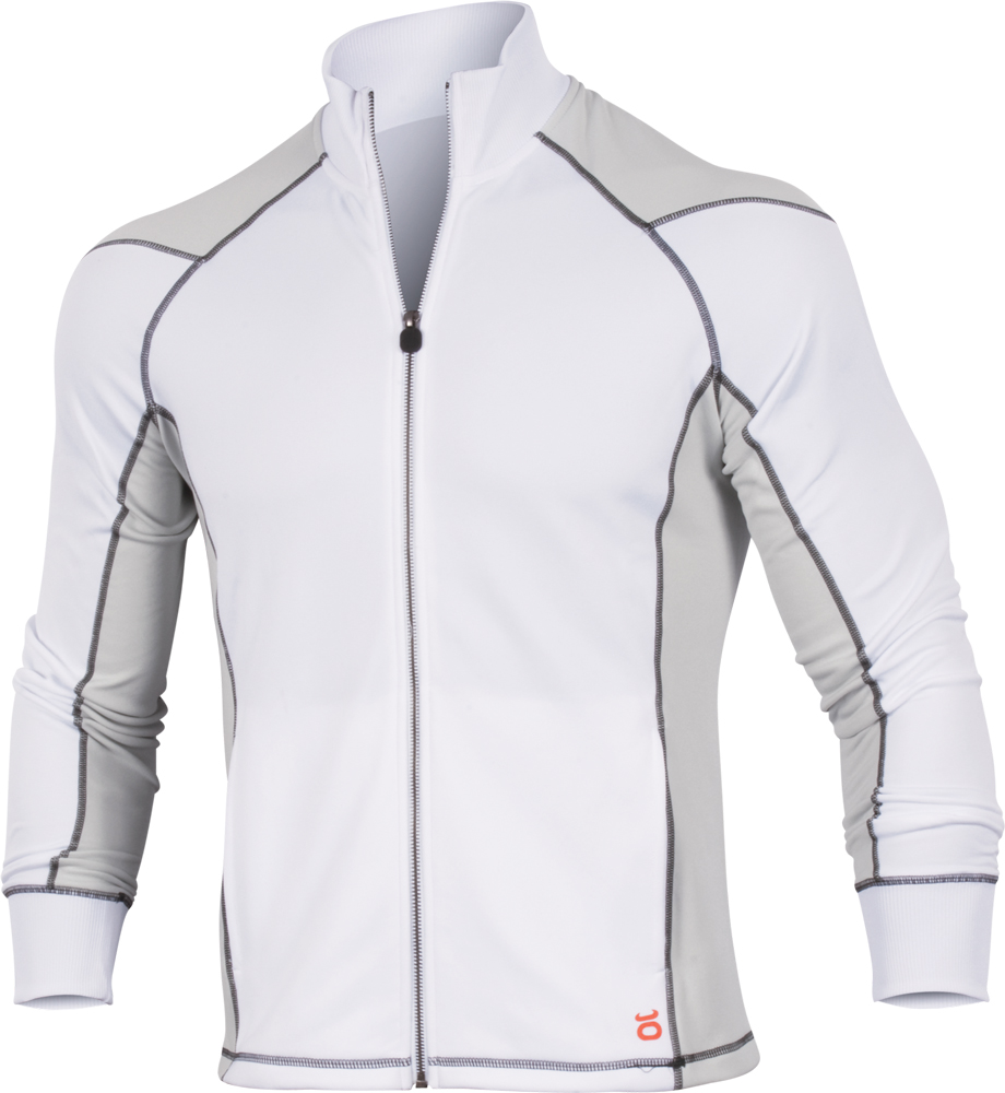 jaco mens hybrid training jacket white limited edition tapout logos tapout logos