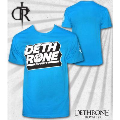 Dethrone Royalty Block T Shirt - Turquoise