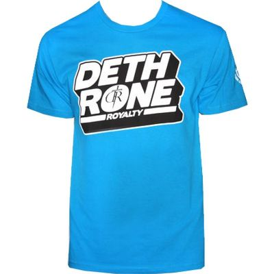 Dethrone Royalty Block T Shirt - Turquoise