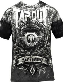 Tapout Engraved T Shirt - Black