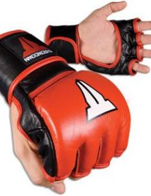 Throwdown MMA Competition Fight Gloves - Red