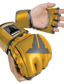 Throwdown MMA Competition Fight Gloves - Gold