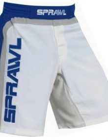 Sprawl Fight Shorts Fusion S Shorts - White/Blue/Grey