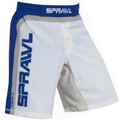 Sprawl Fight Shorts Fusion S Shorts - White/Blue/Grey