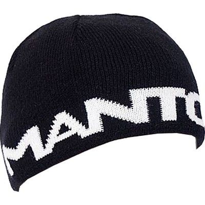 Manto Large Logo Beanie - Black