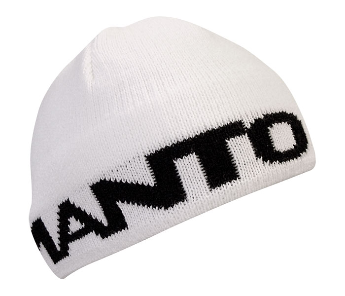 Manto Large Logo Beanie - White