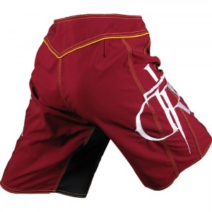 Dethrone Royalty DTR Fight Shorts - Maroon/Yellow