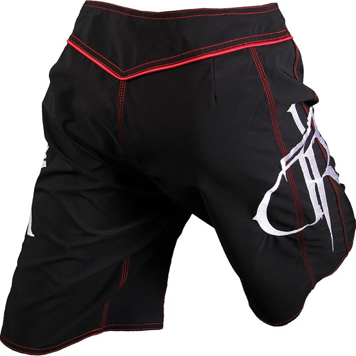 Dethrone Royalty DTR Fight Shorts - Black/Red