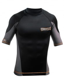 Caged Steel CS1 Shark Skin Rashguard Short Sleeve - Black