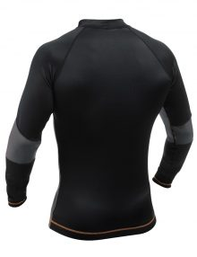 Caged Steel CS1 Shark Skin Rashguard Long Sleeve - Black