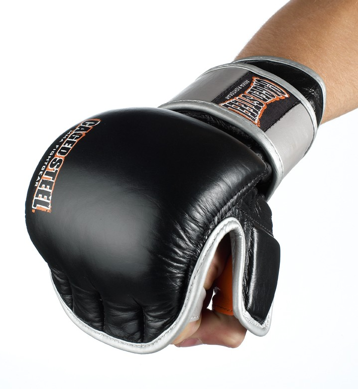 Caged Steel CS1 MMA Sparring Gloves - Black