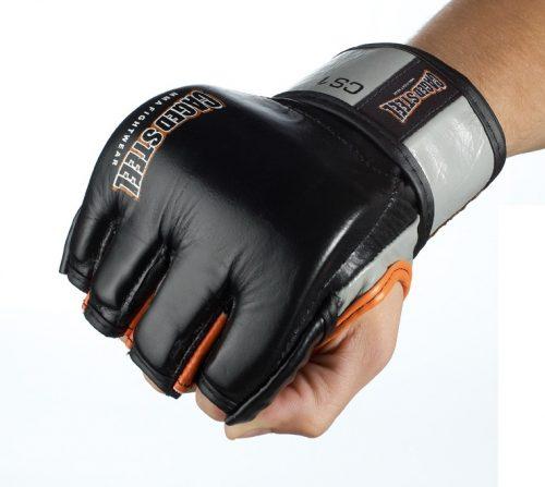 Caged Steel CS1 MMA Fight Gloves - Black