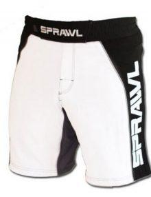 Sprawl Fusion 2 Fight Shorts - White/Black