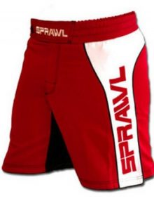 Sprawl Fusion 2 Fight Shorts - Red/White