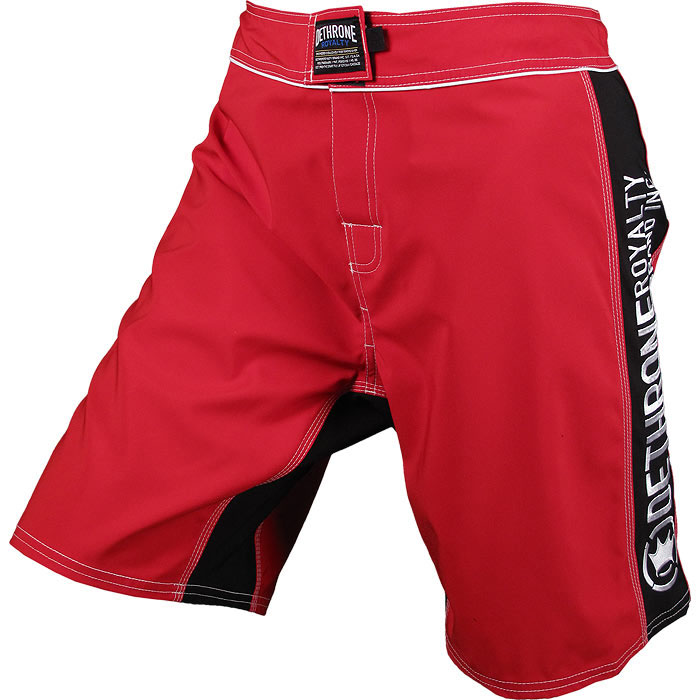 Dethrone Royalty Anticrown Fight Shorts - Red/Black