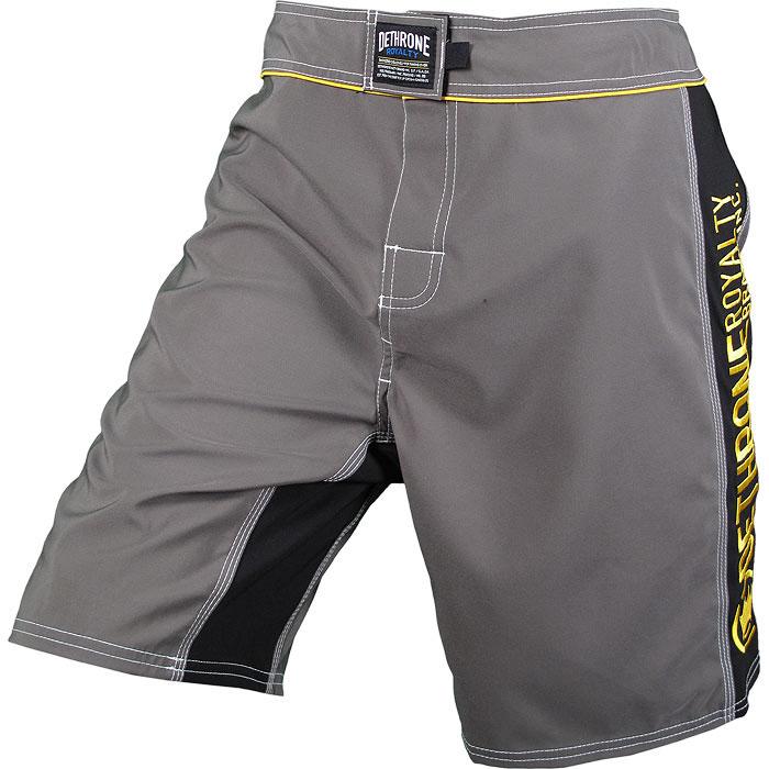 Dethrone Royalty Anticrown Fight Shorts - Grey/Black