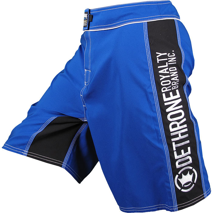 Dethrone Royalty Anticrown Fight Shorts - Blue/Black
