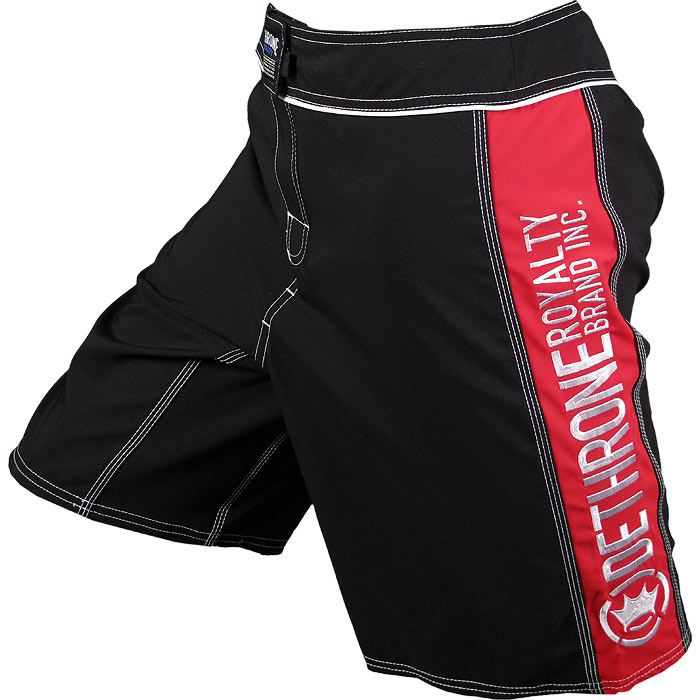 Dethrone Royalty Anticrown Fight Shorts - Black/Red