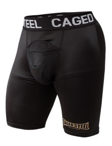 Caged Steel CS1 Compression Shorts with Cup - Black