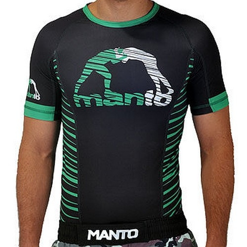 Manto The Beast Short Sleeve Rashguard - Black