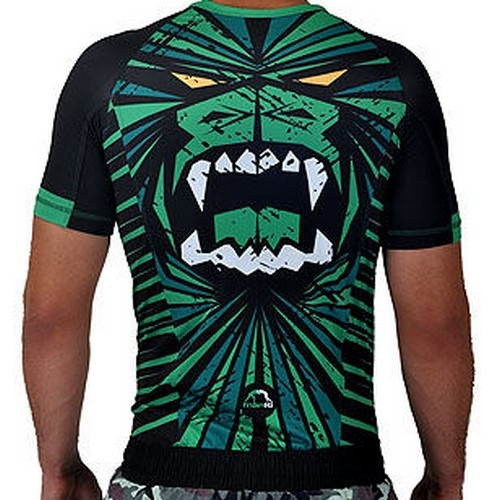 Manto The Beast Short Sleeve Rashguard - Black