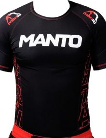 Manto Dynamic Short Sleeve Rashguard - Red