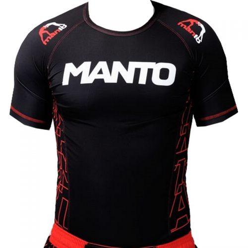 Manto Dynamic Short Sleeve Rashguard - Red