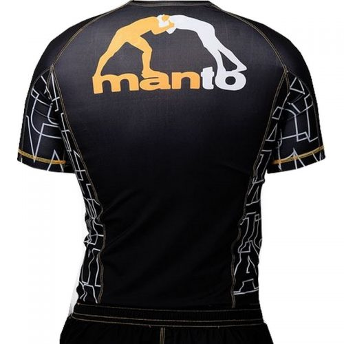 Manto Dynamic Short Sleeve Rashguard - Yellow