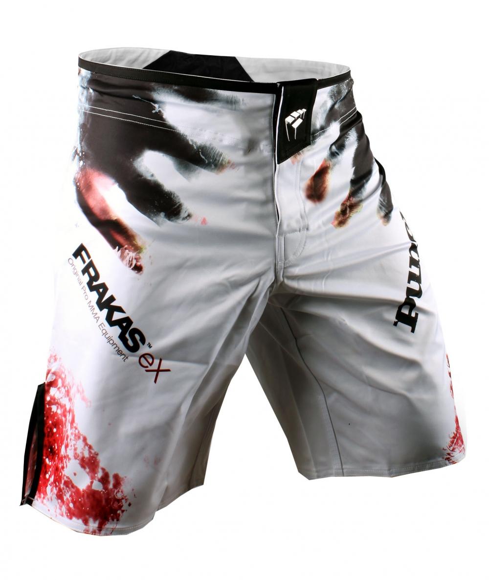 PunchTown Frakas eX The Dead Fight Shorts - White