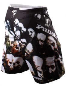 PunchTown Frakas eX Souls In The Wire Fight Shorts - Black