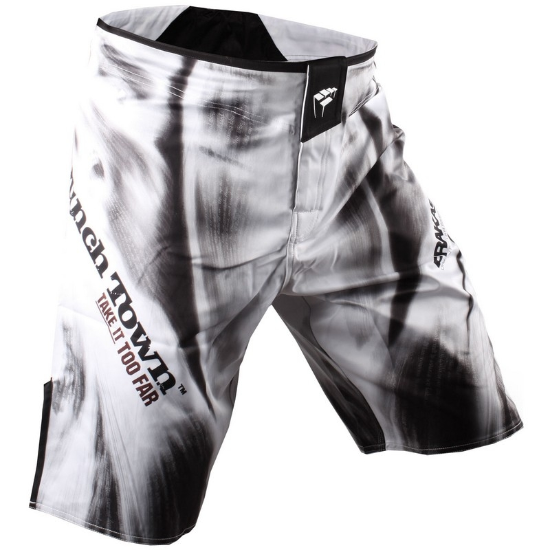 PunchTown Frakas eX Fury In The Flesh Fight Shorts - White