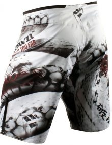 PunchTown Frakas eX Ice Mamba Fight Shorts - White