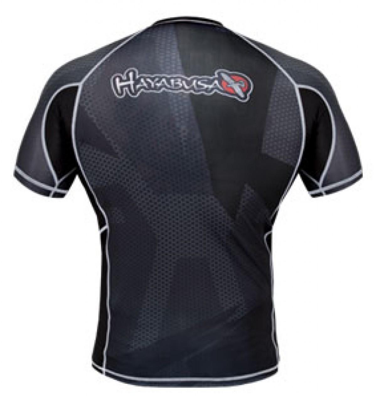 Hayabusa Metaru 47 Silver Rashguard Short Sleeve - Black