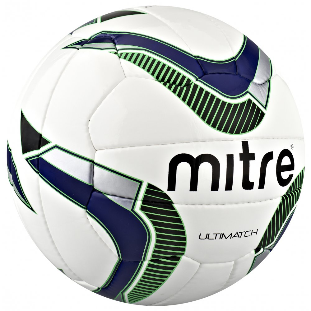 Mitre Ultimatch Match Football - White/Blue