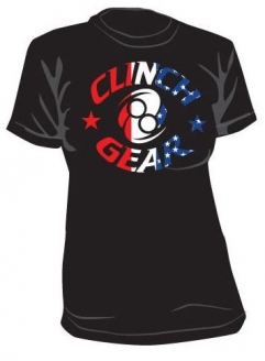 Clinch Gear Ladies UFC 139 American Icon T Shirt - Black