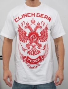 Clinch Gear Fedor Strikeforce Walkout T Shirt - White