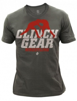Clinch Gear Wrestling Action T Shirt - Charcoal