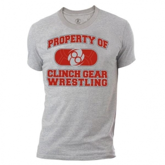 Clinch Gear Wrestling Property T Shirt - Heather