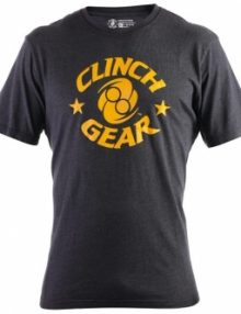 Clinch Gear Icon T Shirt - Black & Yellow