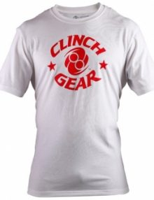 Clinch Gear Icon T-Shirt White & Red
