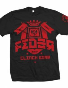Clinch Gear Fedor Crest T Shirt - Black & Red
