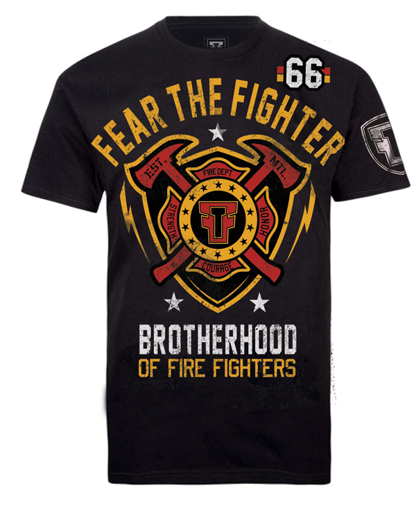 Fear the Fighter Hero Line Fireman - Black
