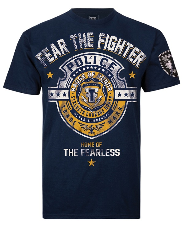Fear the Fighter Hero Line Police - Navy