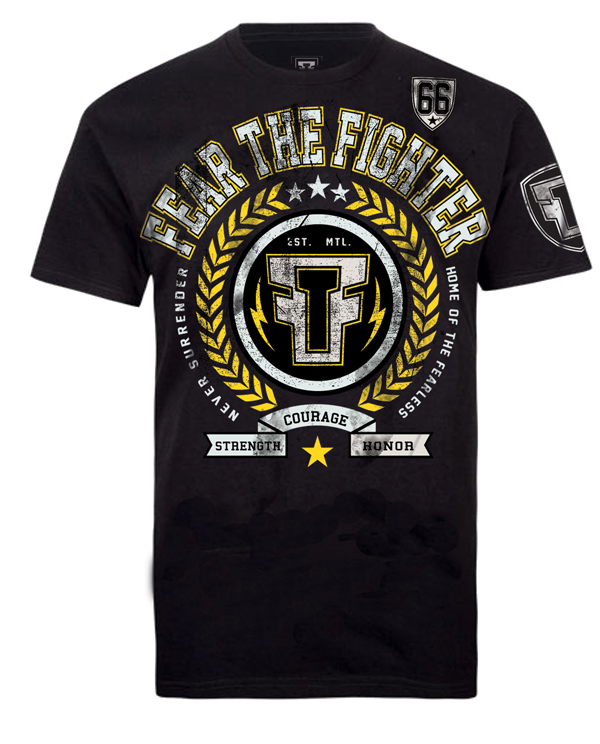 Fear the Fighter Che Mills UFC London Walkout T Shirt - Black