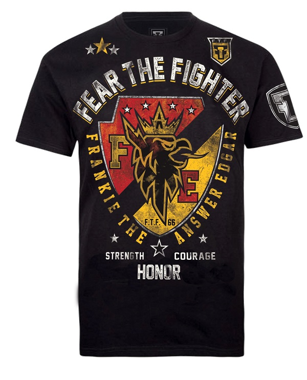 Fear the Fighter Frankie Edgar UFC 156 Walkout Tee - Black