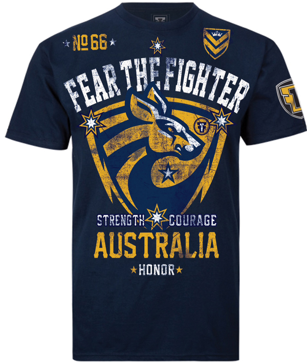 Fear the Fighter Bloodline Australia Tee - Navy