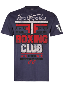 Fear the Fighter Boxing Club T Shirt - Charcoal