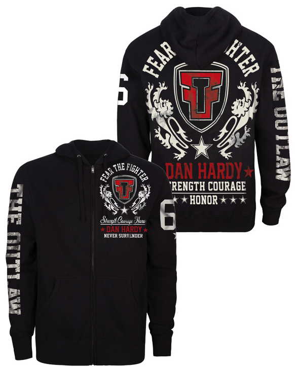 Fear the Fighter Official Dan Hardy Hoodie - Black