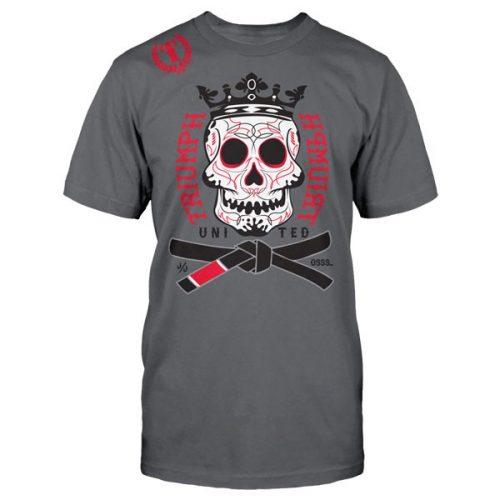 Triumph United Premium Tshirt Dia De Los Muertos - Charcoal